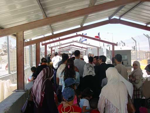 A 'security checkpoint' near Bethlehem